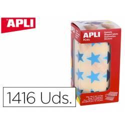 Gomets Apli estrella azul metalizado 19,5mm