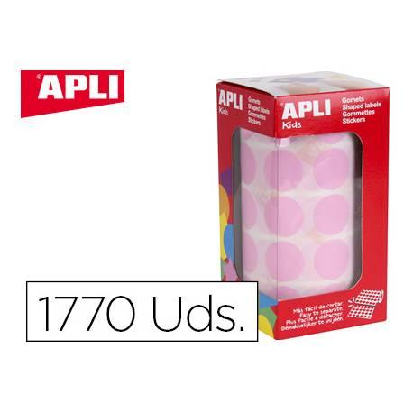 Gomets Apli circulares rosa 20mm