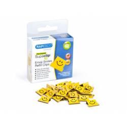 Supaclips metalicos Rapesco Sonrisas Amarillo
