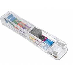Dispensador supaclip Rapesco capacidad 40 hojas clips multicolores