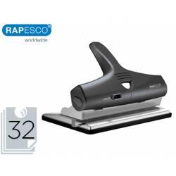 Taladrador Rapesco alu 95 ajustable capacidad de 32 hojas