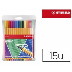 Rotulador Stabilo Point 88 Estuche de 15 unidades colores surtidos