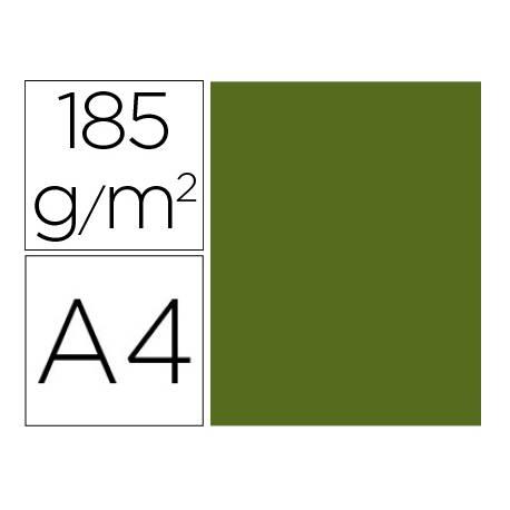 Cartulina Gvarro color verde safari A4 185 g/m2 Paquete de 50
