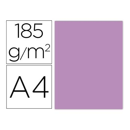 Cartulina Gvarro Malva A4 185 g/m2 Paquete de 50