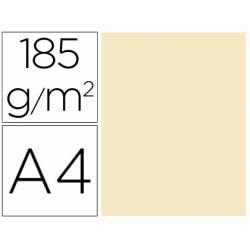 Cartulina Gvarro carne A4 185 g/m2 Paquete de 50