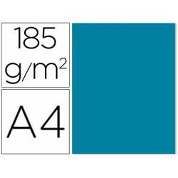 Cartulina Gvarro azul caribe A4 185 g/m2 Paquete de 50