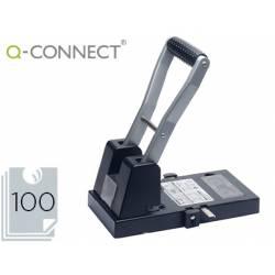Taladrador Q-Connect KF18766 color negro capacidad para 100 hojas