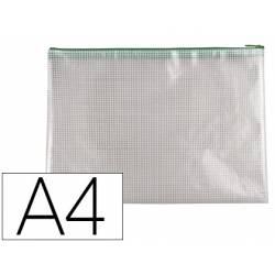 Bolsa multiusos Q-Connect A4 plastico impermeable y ultrarresistente Verde