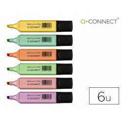 Rotulador Q-Connect Pastel Fluorescente Estuche 6 unidades