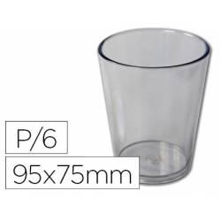 Vaso ABS transparente 95x75 mm Borde grueso redondeado