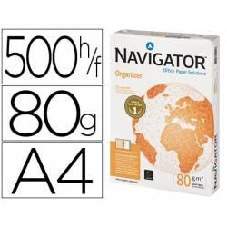 Papel fotocopiadora Navigator A4 80 gr 2 taladros paquete 500 hojas
