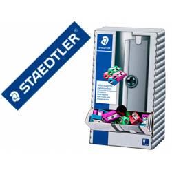 Sacapuntas Metálico Staedtler Expositor 100 unidades Colores Surtidos