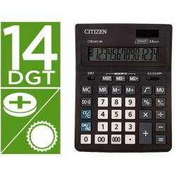 Calculadora Citizen Business line 200x157x35 mm Eco Solar y pilas 14 Digitos