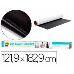 Pizarra Blanca Rollo Adhesivo Post It Super Sticky Removible 121,9x182,9 cm