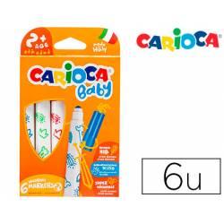 Rotulador Carioca Baby Punta Gruesa Lavables Colores Surtidos Caja de 6 unidades