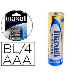 Pilas Maxell Alcalina 1.5 V AAA LR03 Blister con 4 unidades