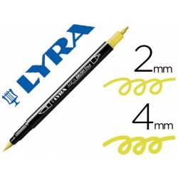 Rotulador Lyra aqua brush acuarelable punta fina y pincel amarillo cadmio limon