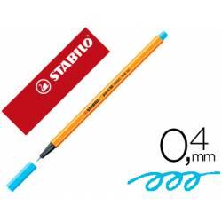 Rotulador Stabilo Point 88 Azul neón