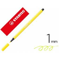 Rotulador Stabilo 68/24 1 mm Amarillo limón