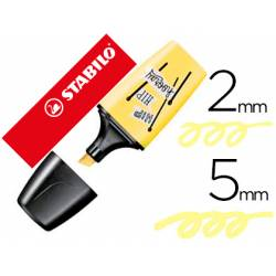 Rotulador Stabilo Boss Mini Pastellove Amarillo cremoso