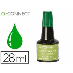 Tinta Tampon Q-Connect Verde 28ml