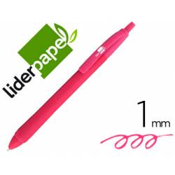 Boligrafo Gummy Touch 1mm Retractil Rosa marca Liderpapel