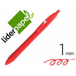 Boligrafo Gummy Touch 1mm Retractil Rojo marca Liderpapel