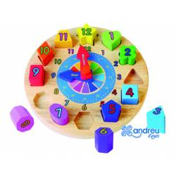 Puzzle Reloj Infantil 12 piezas a partir de 2 años marca Andreutoys