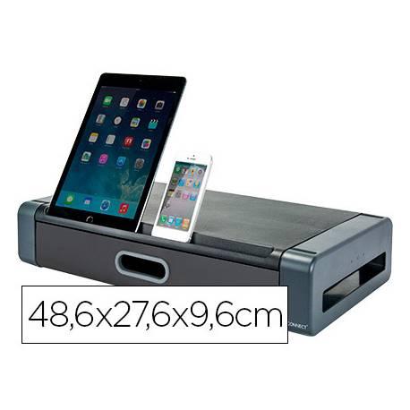 Soporte para monitor Deluxe Q-Connect con cajon
