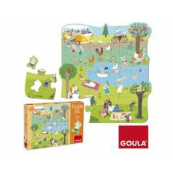Puzzle a partir de 2 años Un dia en el campo XXL 16 piezas marca Goula