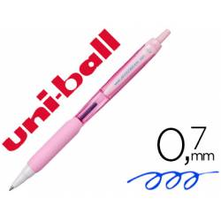 Boligrafo Uni-ball Jetstream SXN-101 Retractil 0,35 mm Rosa Claro Tinta color Azul