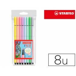 Rotulador Stabilo Acuarelable Pen 68 Estuche 8 Colores Pastel