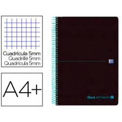 Cuaderno Oxford Ebook 8 A4+ Negro y Turquesa Tapa Plastico Cuadricula 5 mm
