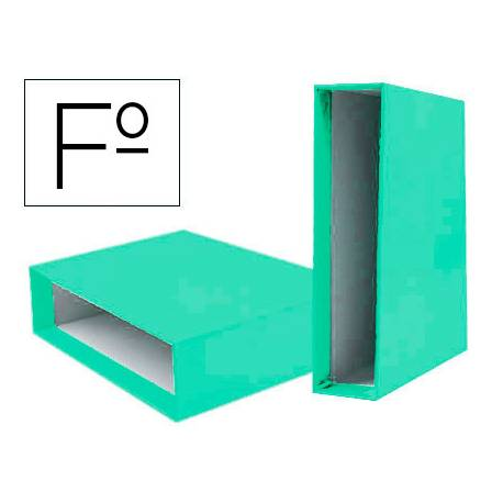 Caja Archivador Liderpapel Documenta Folio Lomo 75 mm Verde claro