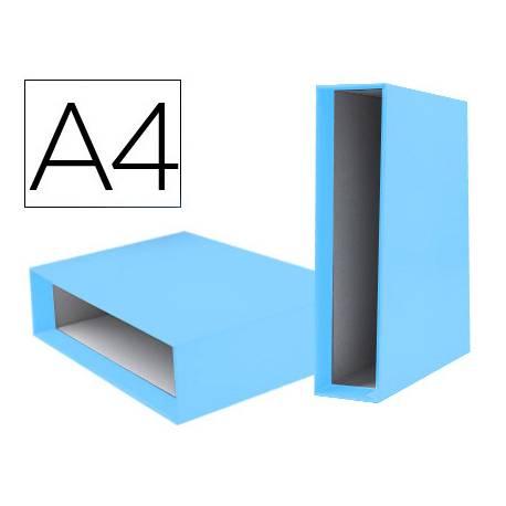 Caja Archivador Liderpapel Documenta A4 Lomo 75 mm Celeste