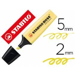 Rotulador Stabilo Boss Pastel 70 Amarillo Cremoso