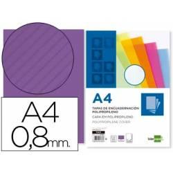 Tapa de Encuadernacion Ondulada Polipropileno Liderpapel DIN A4 Violeta 0.8mm pack 50 uds