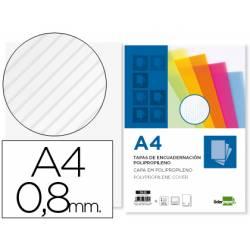 Tapa de Encuadernacion Ondulada Polipropileno Liderpapel DIN A4 Transparente 0.8mm pack 50 uds