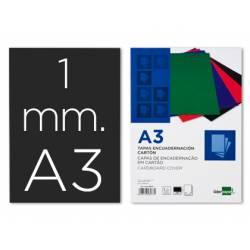 Tapa de Encuadernacion Carton Liderpapel DIN A3 Negra 1mm pack 50 uds