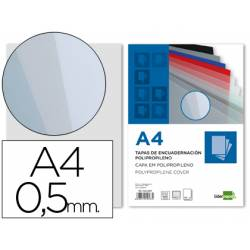 Tapa de Encuadernacion Polipropileno Liderpapel DIN A4 Ahumada 0.5mm pack 100 uds