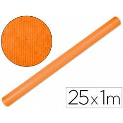 Bobina Papel Kraft Liderpapel 25x1 m Naranja fuerte