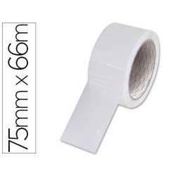 Cinta adhesiva Q-Connect Polipropileno color Blanca 66m x 75mm Para embalaje