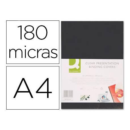 Tapa de Encuadernacion PVC Q connect Din A4 Opaca 180MC pack 100 uds