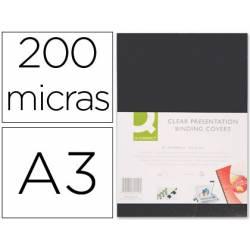 Tapa de Encuadernacion PVC Q connect Din A3 Opaca 200MC pack 100 uds
