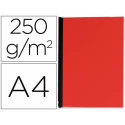 Tapa de Encuadernacion Carton Q connect Din A4 Rojo 250gr pack 100 uds