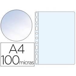 Funda Multitaladro Q-Connect A4 100 MC Cristal Bolsa 100 unidades