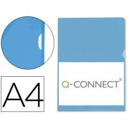 Funda dossier uñero Q-Connect Din A4 azul Caja de 100