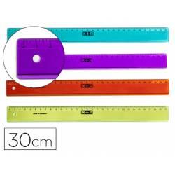 Regla plastico Mor 30 cm Colores surtidos