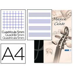 Bloc Musica Oxford A4 24 hojas 90 gr Pentagrama Interlineado 2 mm+ cuadricula 5mm