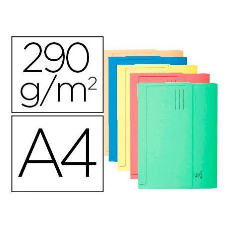 Subcarpeta Cartulina Reciclada A4 Exacompta con bolsa Colores Surtidos 290 gr 10 unidades